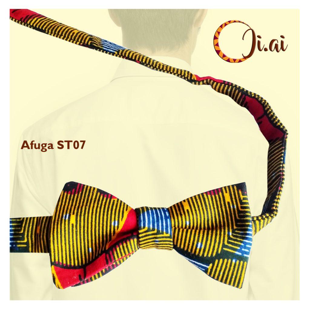 Kitenge Bow Ties by Ji-ai 07a Afuga ST07